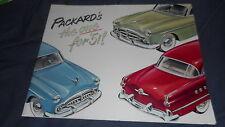 1951 Packard 400 Patrician 200 300 Linea Completa Originale Brochure Prospetto