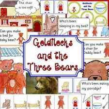 Goldilocks and Three Bears teacher resource -story sack resources on CD