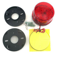 LED Round Flash Strobe Beacon Roof Top Car Emergency Warning Light Amber