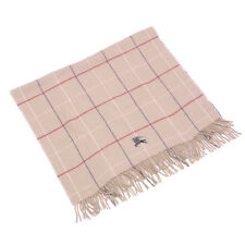 Burberry blanket Beige Woman unisex Authentic Used D1700