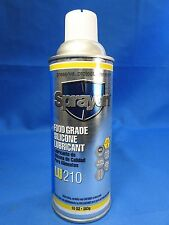 SPRAYON FOOD GRADE SILICONE AEROSOL LUBRICANT LU210 6 CAN PACK of 10 oz. cans