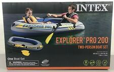 Intex Explorer Pro 200 - 2 Person Inflatable Boat Set with Oars and Pump - New