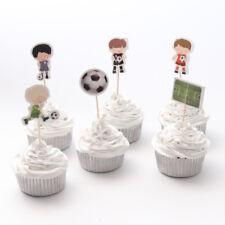 12 Soccer Cupcake Picks Toppers Football