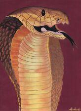 Cape Cobra snake original acrylic painting by prison inmate artist 444