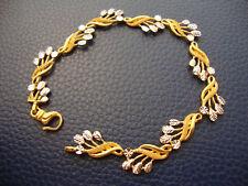 22K SOLID YELLOW WHITE GOLD LEAVES BRACELET 11.2 GRAMS BOUGHT IN DUBAI