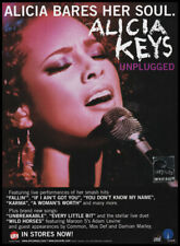 "Alicia Keys 1-pg clipping 2005 ad for album ""Unplugged"""
