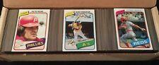 1980 Topps Complete Baseball Set, 726 Cards, Mid Grade, Rickey Henderson RC