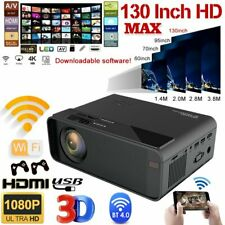 1080P HD WiFi Bluetooth 3D LED Mini Video Projector Home Cinema 4K Android 6.0