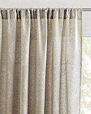 Serena and Lily Lucia Linen Window Panel, 50 x 108, Flax w/Silver Accent - New