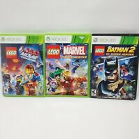LEGO Batman 2 Lego Movie & Lego Marvel Super Heroes Lot (Sony PlayStation 3) PS3