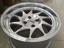 Whistler KR7 Wheels Rims 15x8 4x100 +0 Offset Machined EK Civic Integra EG xB