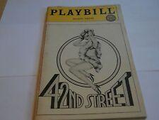 Playbill program 42nd Street 1984 Majestic Theatre Jerry Orbach Anne Rogers