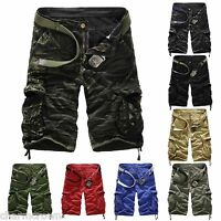 FASHION MENS Casual Military Army Combat Camo Overall Shorts Cargo Sports Pants