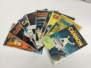 Cannon #1-8, Horny Toads #1 (1991) Wallace Wood Indie Comix Lot 9 Issues VF/VF+