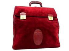 Cartier Burdeos Gamuza Attache o equipaje de mano 239791