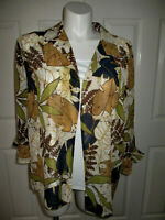 Alfred Dunner 2pc. Blouse/Tank Top Blouse 3/4 Sleeve Button Front Women's 16