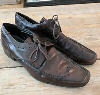 Men's JEFFERY WEST Brown Leather Shoes size 10 - Classic Style & Quality