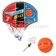 Kids Child Wall Mounted Mini Basketball Hoop Net Back Board + Ball + Needle Pump