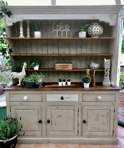 Farmhouse Shabby Chic Dresser Hand Painted In Annie Sloan Country Grey Original