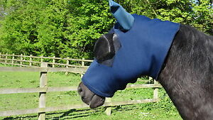 HORSE FACE COVER / FLY MASK - ALL SIZES (SWEET ITCH) - made to measure