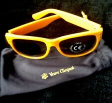 VEUVE CLICQUOT CHAMPAGNE YELLOW  SUNGLASSES   IN VC BRANDED CLOTH  BAG