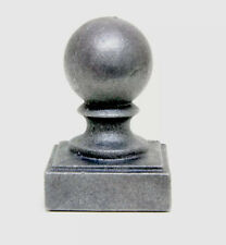"Cast iron Ball Fence Finial Square Topper Post Caps - For 2 x 2"" Posts"