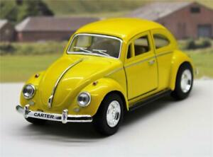 PERSONALISED Plate Gift Yellow VW Beetle Boys Girl Toy Model Car Xmas Present