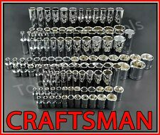 Craftsman Hand Tools 136pc 1/4 3/8 1/2 Sae Metric Mm Ratchet Wrench Socket Set