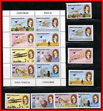 GUINEA EQUATORIAL 1981 WRIGHT BROS PLANES + M/S MNH CONCORDE, STATUE of LIBERTY