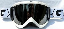 NEW $90 Carrera Zenith Adult winter White snow ski Goggles Silver smith Spy Lens