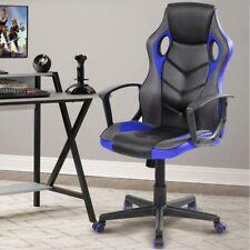 Sedia Poltrona Gaming Scrivana Ufficio Casa Regolabile Girevole Direzionale Blu