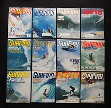 SURFING MAGAZINE 2002 VOL.38  LOT OF 13 ISSUES SURFER LONGBOARDING  HAWAII