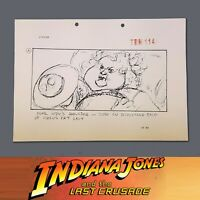 INDIANA JONES & THE LAST CRUSADE, Production Used Storyboard, Indy w/ Fat Lady