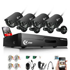XVIM 8CH HDMI Video DVR Home 1500TVL CCTV Security Cameras System 1TB Hard Drive