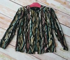 Vintage 70s 80s glittery metallic thread party cover up jacket cardigan 10