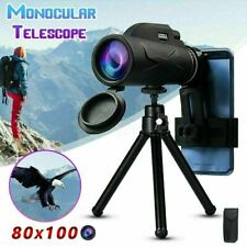80X100 Zooms Monocular Portable Prism High-definition Optical Phone Telescope