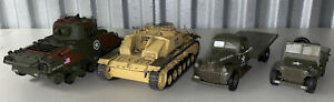 Unimax 1/32 Scale Tanks & Daimier Chrysler Jeep & Truck lot