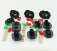 JTD23 10 sets Target Faces With LEDs for Railway signal O Scale 2 Aspects
