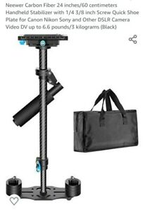 "Neewer Carbon Fiber 24""/60cm Handheld Stabilizer for DSLR,Video Camera ""Open box"