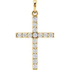 Cruz Diamante 45.7cm Collar en 14k ORO AMARILLO ( 3/4 Ct. TW