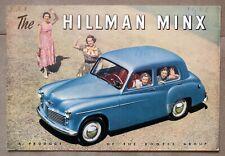 HILLMAN MINX 1951 1952 1953 PROSPEKT BROCHURE PROSPECTUS english