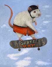 SKATE Rat Skateboard BOARD Helmet DECKS Street SKATING Wheels Surf Humor FUNNY!