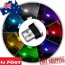 Mini LED Car Interior Light Automotive USB Atmosphere Plug and Play Decor YELLOW
