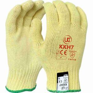 12 x KKH7 DuPont™ Kevlar® Heavy Weight Aramid Fibre Cut Resistant Glove - Yellow