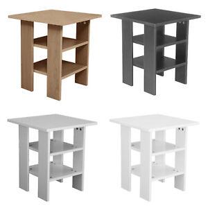 2 Tier Wooden Side Table End Nightstand Furniture Living Room Bedroom Storage