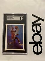 Michael Jordan SGC 8 NBA Hoops Last Dance Card Collector Chicago Bulls #358 1990