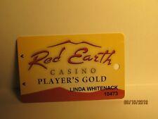 Red Earth Casino, Casino Players Card- Salton Sea , Ca. - mint