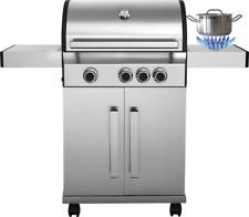 BBQ Gas-Grill mit seitlicher Kochfläche + ** GRATIS REGENSCHUTZHÜLLE **