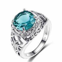 Echt 925 Sterling Silber Ring Vintage Alexandrit Edelstein Damen edlen Schmuck.