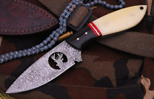 Hand Forged Damascus Steel Skinner Knives with Deer Logo